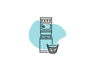 Laundry day 1con chores laundry icon late night art