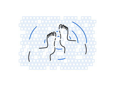 Everybody Poops abstract poop private time feet tile line art
