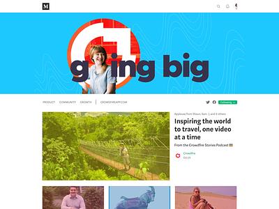 Crowdfire – Branding our medium blog