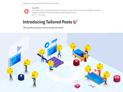 Crowdfire – Tailored Posts ✨