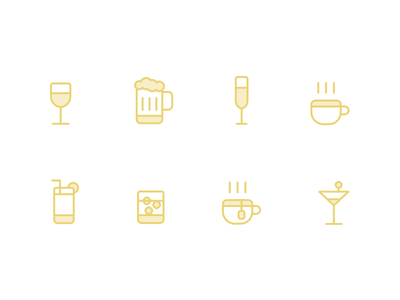 Barnaby Icon Set barnaby beverages beverage icons set icons mobile app app ux ui illustration icon set icon