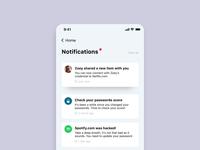 Notification Center // Delete action