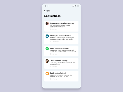 Notification Center // Multiple Actions invision studio concept empty state notification mobile design motion interaction ui app animation