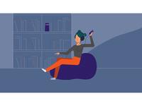Monclick broadcast 15 sec TV spot ecommerce chat skypecall puff livingroom family tablet headphones alexa notebook tvspot motion broadcast illustrator illustration after effects mauro mason motiongraphics deckard977 motion design