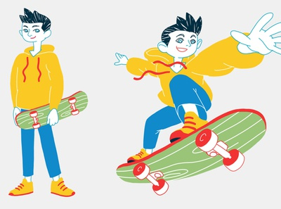 Altroconsumo/KIDS 02 skateboard skate explainer video circular economy photoshop after effects motion character animation character design illustration motion design