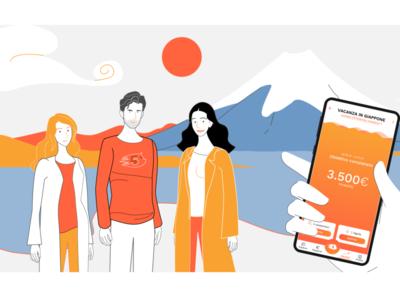Illustrations for Gimme5 social videos