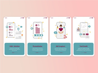 Baby App - Onboarding Screens icon ux icons vector illustration brand app ui uiux design