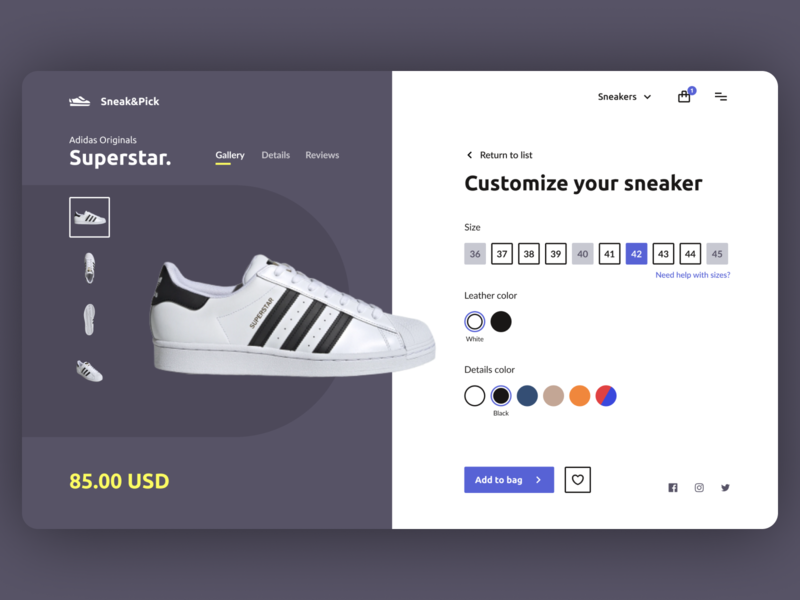 Daily UI #12 - Product Page