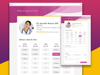 Make an appointment gynecologist female doctor minimalistic modern landing page doctor health appointments product product design ui interaction design