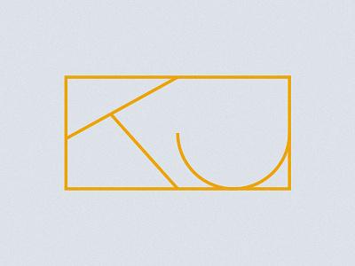 KJ custom logo brand simple typography type