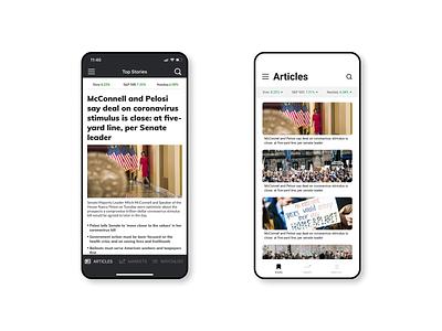 Market Watch redesign figma clean ui concept mobile ui app design flat