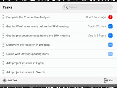 Menubar todo list organised list easy to reach flexible simple reminder todolist menubar macbook flat clean ui