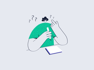 How character message write design minimal illustration