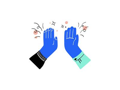 Give Me Five design hand drawn hand minimal illustration