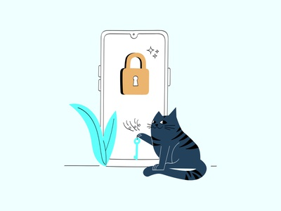 Taskulu's Cat nothing forgot password password cat cats character design illustration