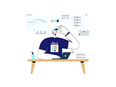 Task Management teamwork confusion confused task management task manager task list tasks task ui characterdesign character minimal design illustration