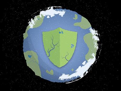 Earth Protectors earth editorial illustration design