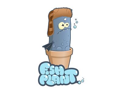 Fishplant illustration character plant fish