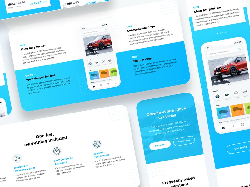 Invygo Car Subscription - Landing Page