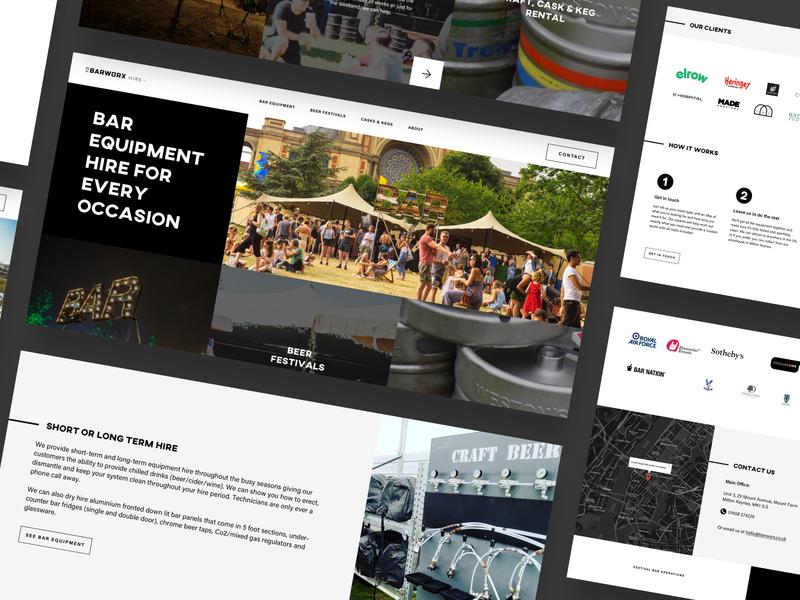 Barworx - Bar Equipment Hire Website