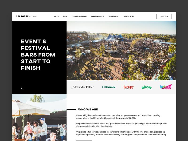 Barworx - Events Website
