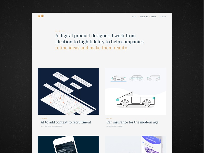 Personal Portfolio - Homepage