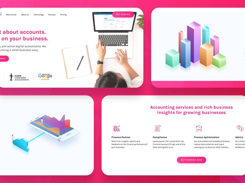 Abacai - Digital Accounting Landing Page