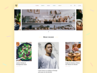 Act the Goat - Recipe, Music & Kitchenware Website ecommerce ecommerce design shop clean website concept website design ui magazine journal home page minimal colourful music blog e-commerce recipe cooking branding web design website