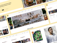 Act the Goat - Recipe & Kitchenware Website shopify shop e-commerce ecommerce recipes layout colourful minimal home page slider recipe blog photography navigation dropdown menu ui branding web design website