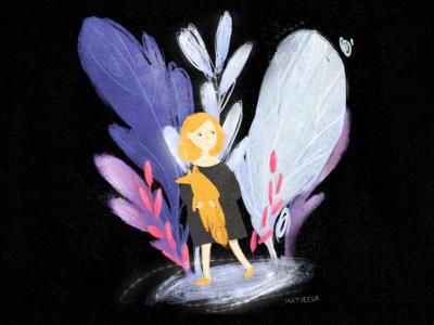 Girl & Fox | Illustration