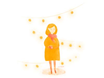 Girl in Lights, autumn/Illustration