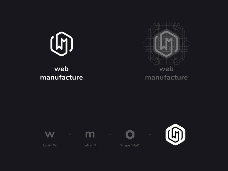 WEB MANUFACTURE logotypegrid logos letter app icon identitydesign idenity designlogo logodesign typography logo logotype design
