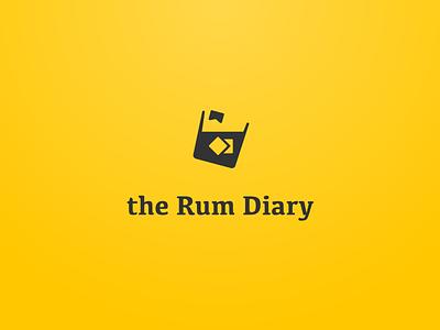 Logotype - the Rum Diary branding yellow logotype design illustration designlogo design logos logodesign typography logotype logo identitydesign