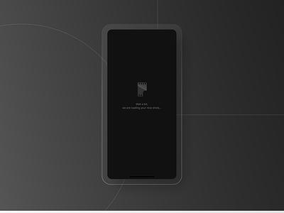 Afilm app mobile application mobile app design splash black uiuxdesign ui design splash screen mobile app design