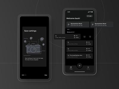 Afilm - Dark mode mobile design mobile app list view dark mode dark theme ui uxui
