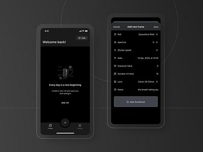 Afilm - Dark mode uxui uxuidesign emptystate add new uidesign uxdesign mobile design mobile app darkmode
