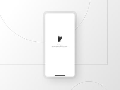 Afilmapp - Loader ui design visual design uiux uxui mobile app screen splashscreen splashpage loading