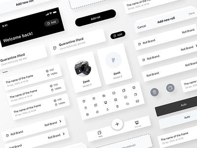 Afilmapp - Components cards components design system ui design ui visual design