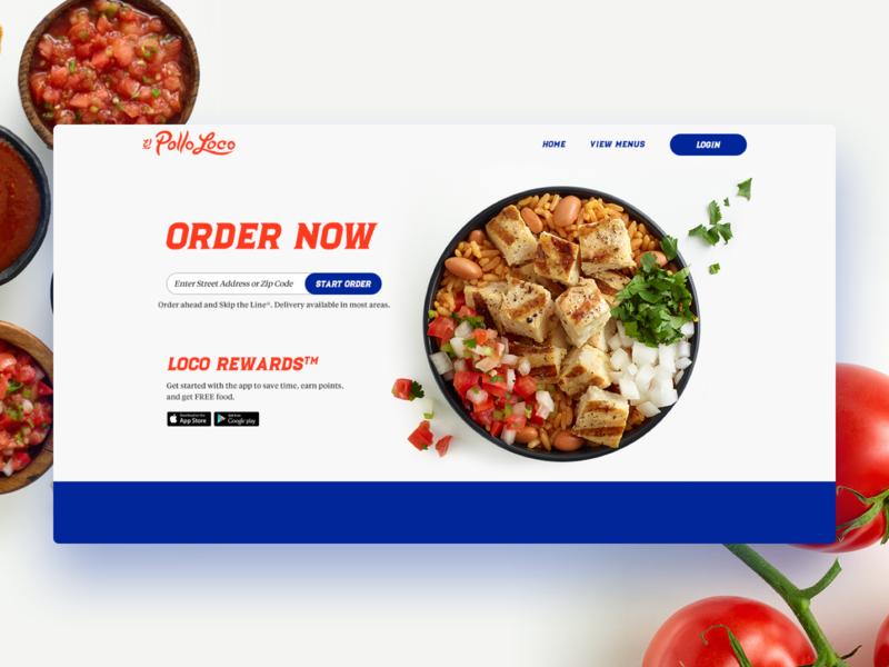 El Pollo Loco - Order Now Splash el pollo loco order splash website ux ui