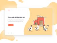 Web Illustration - Chickens