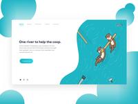 Web Illustration Otters