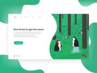 Web Illustration - Penguins
