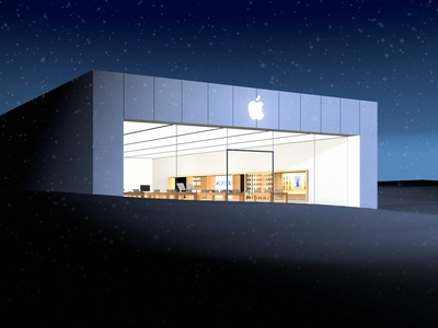 Holiday Apple Store animation after effects retail 3d cinema 4d illustration apple store