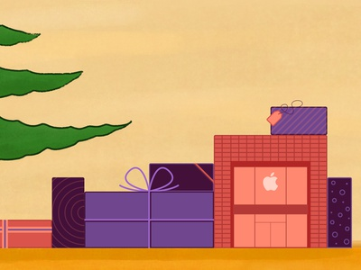 Apple Sainte-Catherine holidays christmas gifts fresco mid century today at apple retail apple canada sainte-catherine apple store illustration