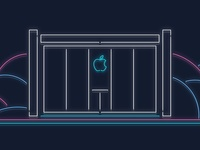 Neon Apple Store
