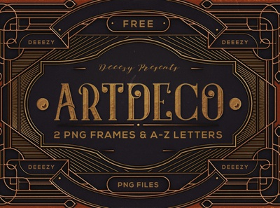 Free ArtDeco Frames & Letters letters metalic golden ornamental decorative artdeco deeezy retro logo free font vintage font free graphics typography freebie free