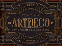 Free ArtDeco Frames & Letters