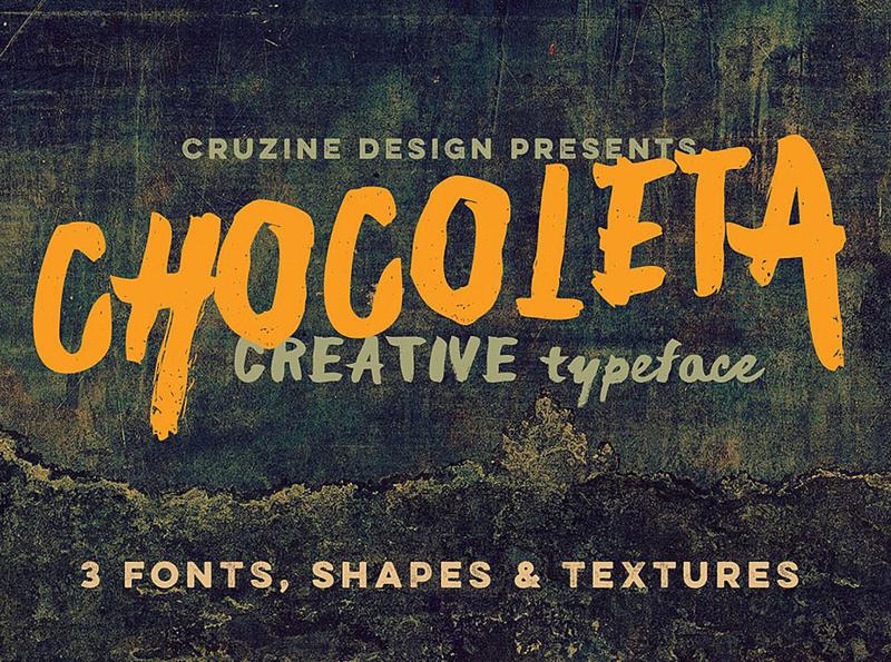 Free Chocoleta Fonts & Graphics brush shapes free shapes free textures handwritten grunge font brush font freebies free typography deeezy free font font free graphics typography freebie free