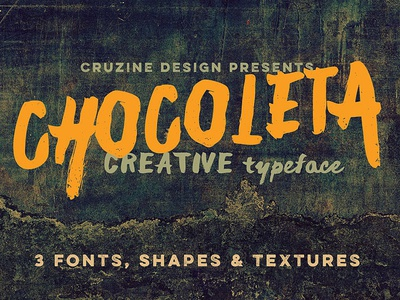 Free Chocoleta Fonts & Graphics brush shapes free shapes free textures handwritten grunge font brush font freebies free typography deeezy free font font free graphics typography freebie free
