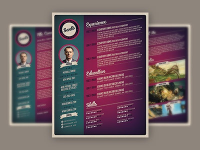 dribbble18 - Vintage Resume Template